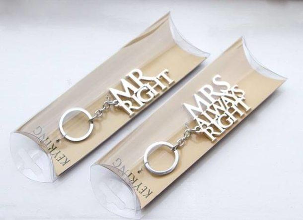 Mr & Mrs Always Right Key Chain