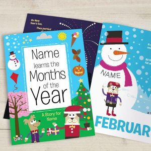 Personalised Months of the Year Book