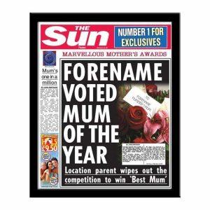 Personalised 'The Sun' Spoof Newspaper - Best Mum