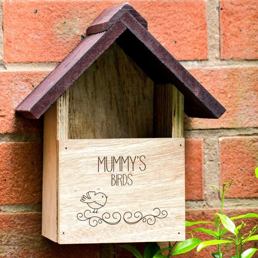 Personalised Mum's Rustic Bird House