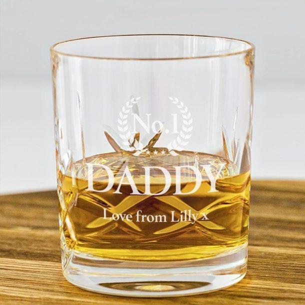 Personalised No 1 Crystal Whisky Tumbler