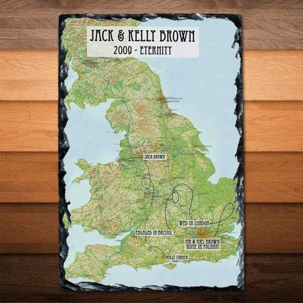 Personalised Our Journey Slate Keepsake