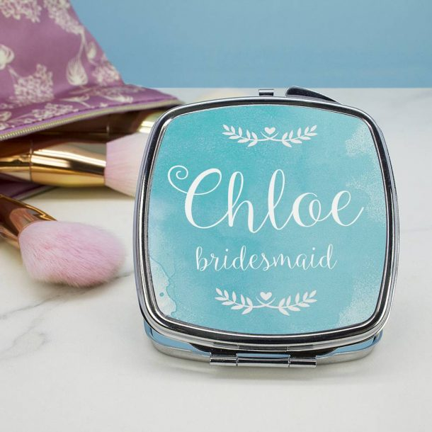 Personalised Wedding Any Role Compact Mirror