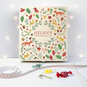Personalised Festive Woodland Christmas Treat Box