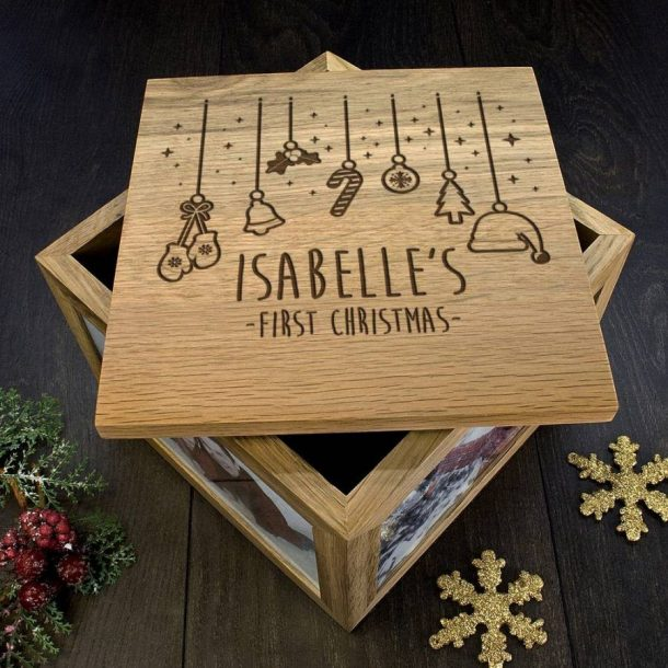 Personalised Baby's First Christrnas Memory Box