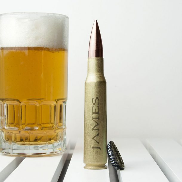 Personalised 50 Calibre Bullet Shell Beer Opener