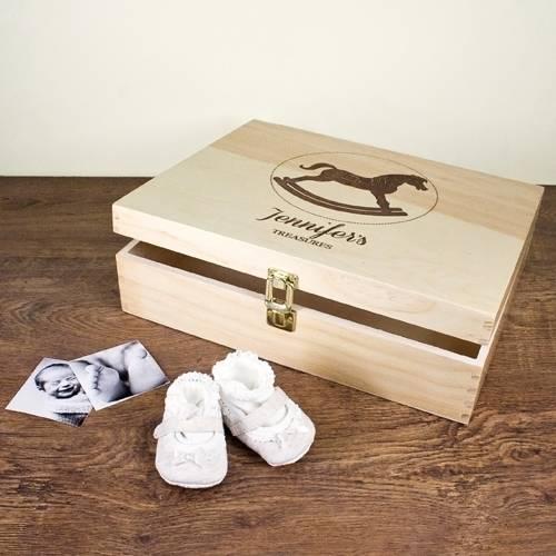 Personalised Rocking Horse Memory Box