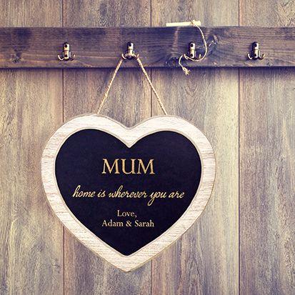 Personalised Mum's Heart Chalkboard Sign