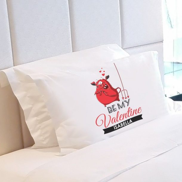 Personalised Be My Valentine Pillow Case