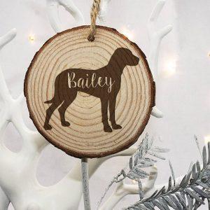Personalised Dog Silhouette Christmas Tree Decoration