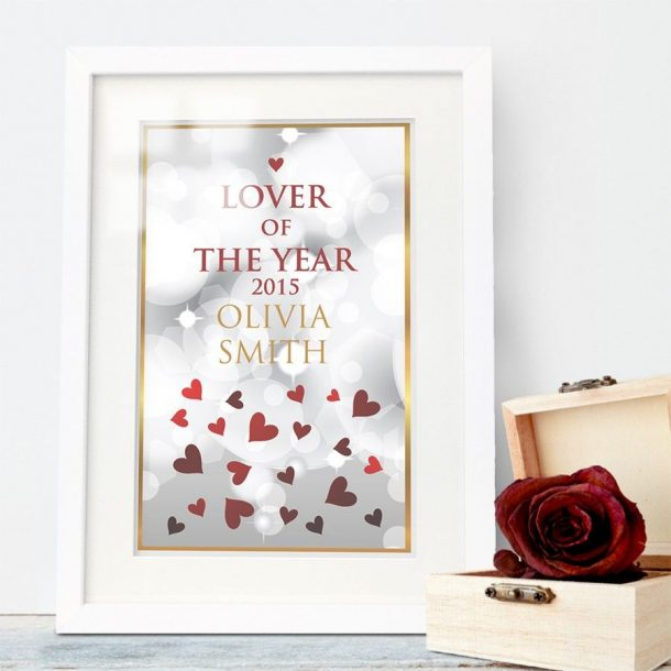 Personalised Framed Poster - Lover of The Year