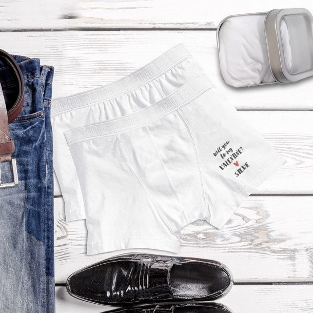 Personalised Men's Love Boxers in Gift Tin