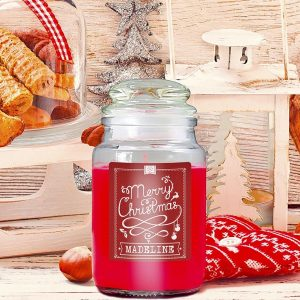 Personalised Yankee Style Christmas Candle