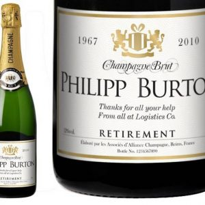 Personalised Champagne - Gold Retirement