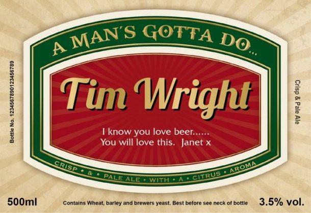 Personalised Man's Virtues Set of 3 Craft Beers