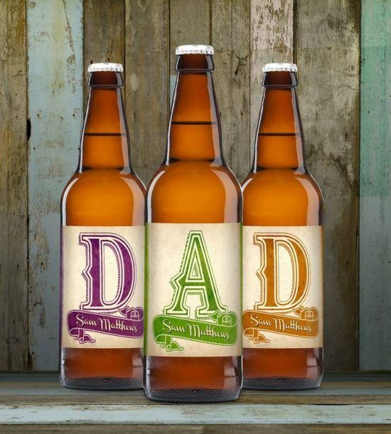 Personalised D-A-D Set of 3 Craft Beers