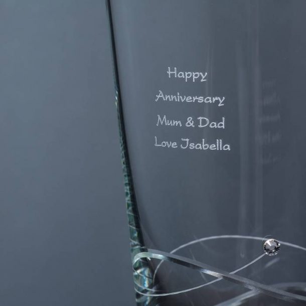 Personalised Swarovski Spiral Diamante Vase
