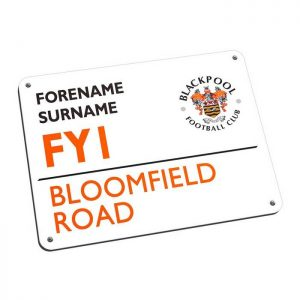 Personalised Blackpool FC Street Sign Mousemat