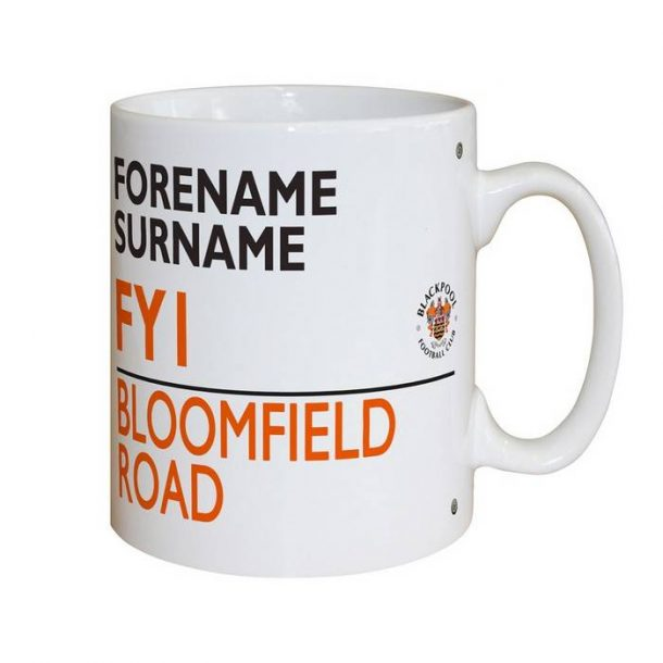Personalised Blackpool FC Street Sign Mug