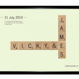 Personalised Letter Tiles Print