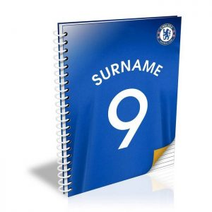 Personalised Chelsea FC A5 Shirt Notebook
