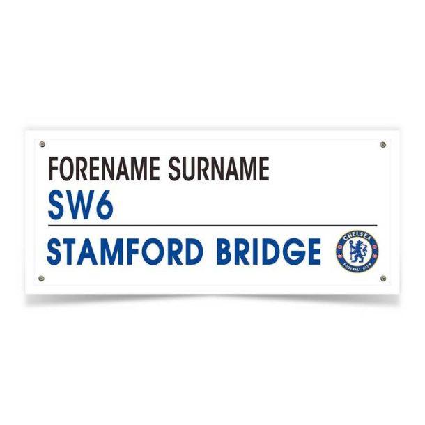 Personalised Chelsea FC Street Sign Mug