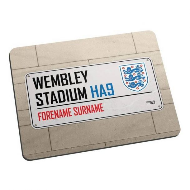 Personalised Official England Street Sign Mousemat