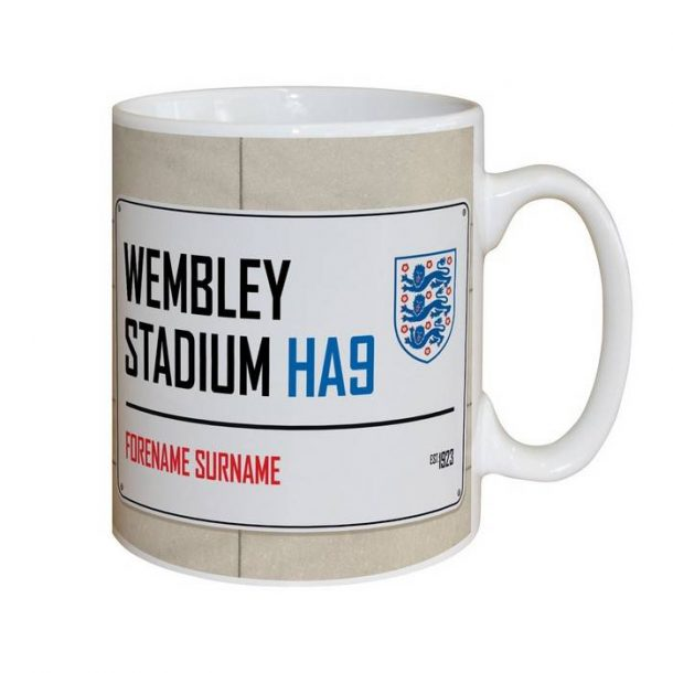 Personalised Official England Street Sign Mug