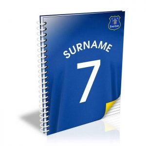 Personalised Everton FC A5 Shirt Notebook