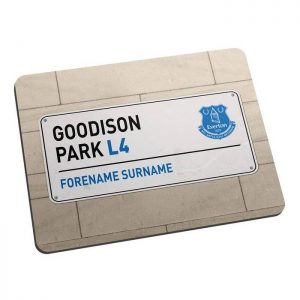 Personalised Everton FC Street Sign Mousemat