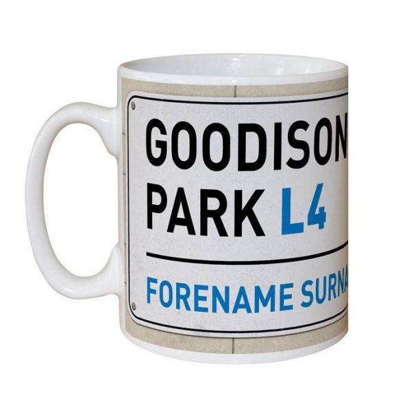 Personalised Everton FC Street Sign Mug