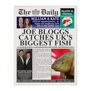 Personalised The Daily Fishing Newspaper
