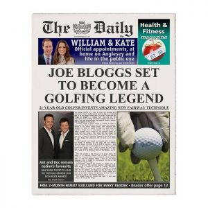 Personalised The Daily Golfing Legend Newspaper