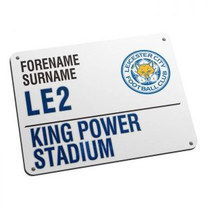 Personalised Leicester City FC Street Sign Mousemat