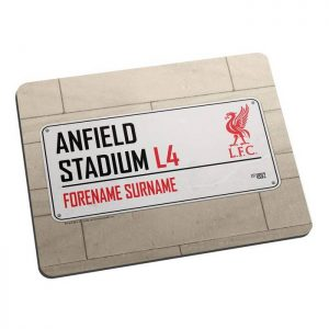 Personalised Liverpool FC Street Sign Mousemat