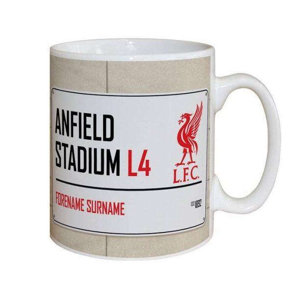 Personalised Liverpool FC Street Sign Mug