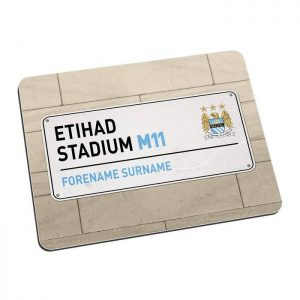 Personalised Man City FC Street Sign Mousemat
