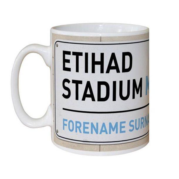 Personalised Man City FC Street Sign Mug