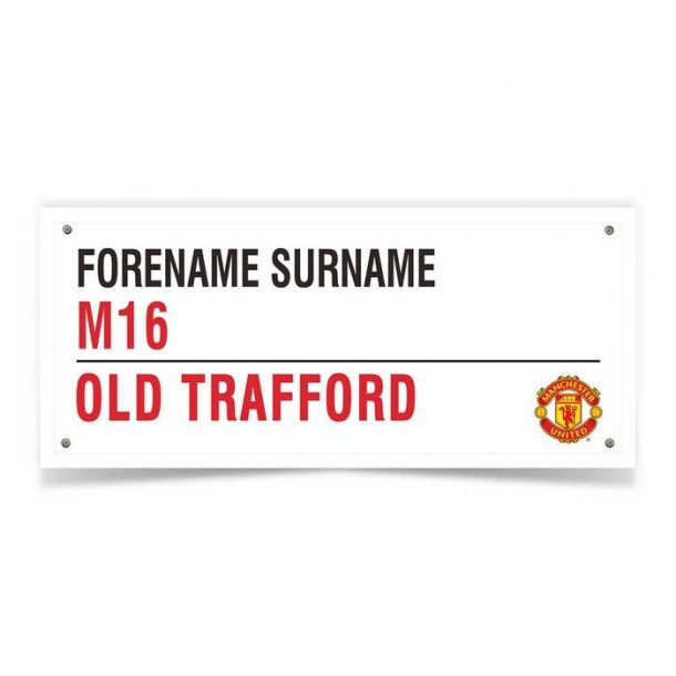 Personalised Man Utd FC Street Sign Mug