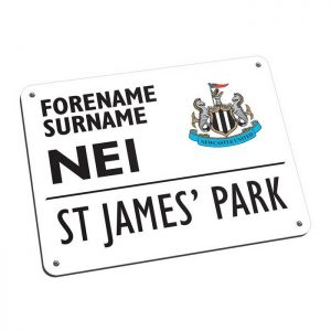 Personalised Newcastle United FC Street Sign Mousemat