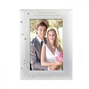 Personalised Diamante Swirl Frame
