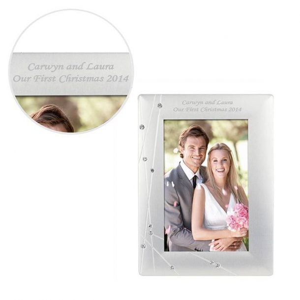 Personalised Diamante Swirl Frame