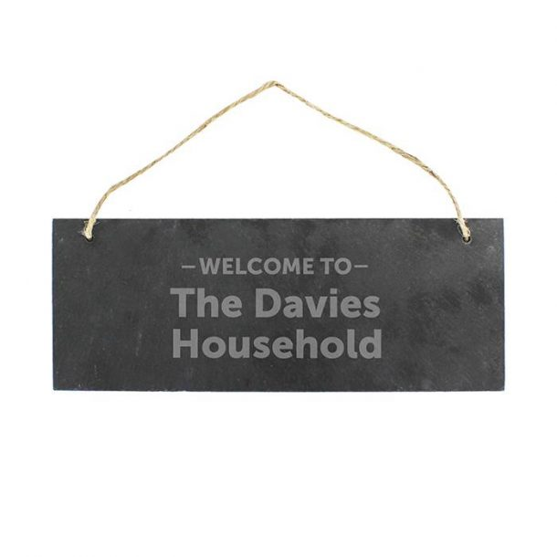 Personalised Welcome To... Slate Sign