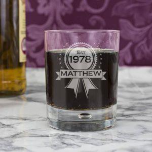 Personalised Established Whisky Glass