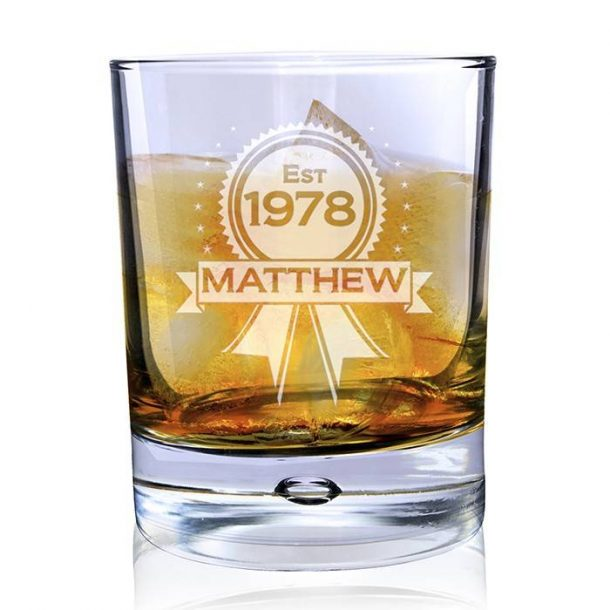 Personalised Established Whisky Glass