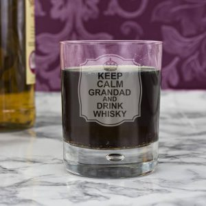 Personalised Keep Calm Whisky Glass