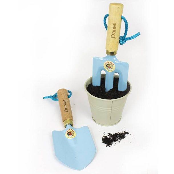 Personalised Blue Gardening Tool Kit