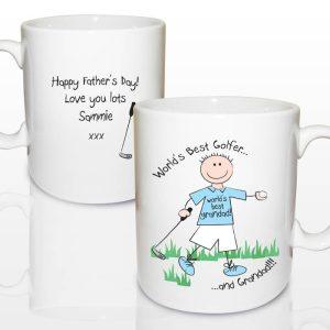 Personalised World's Best Golfer Mug