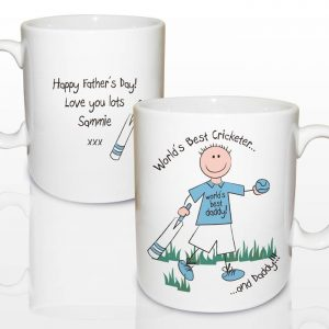 Personalised Worlds Best Cricketer Mug