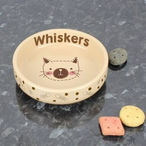 Personalised Brown Cat Bowl